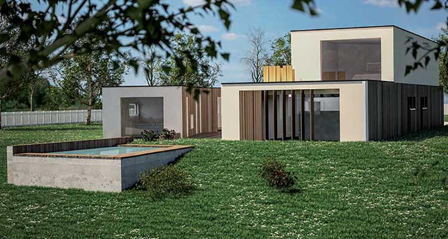 progetto villa in legno Gemini