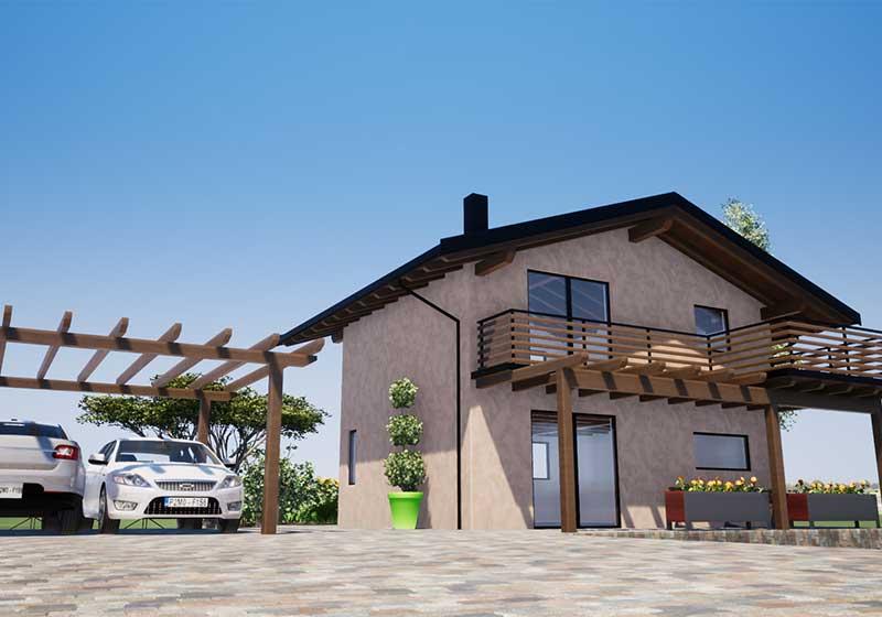 costruzione villa in legno a Ledro