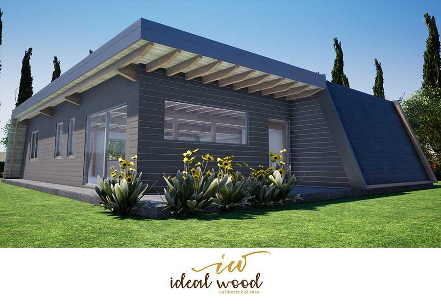 Progetto casa in legno villa america