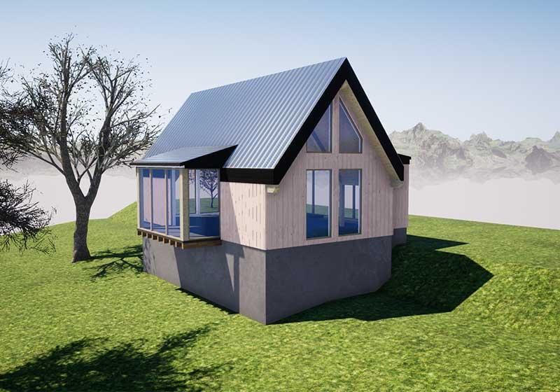 progetto villa in legno Ponteranica